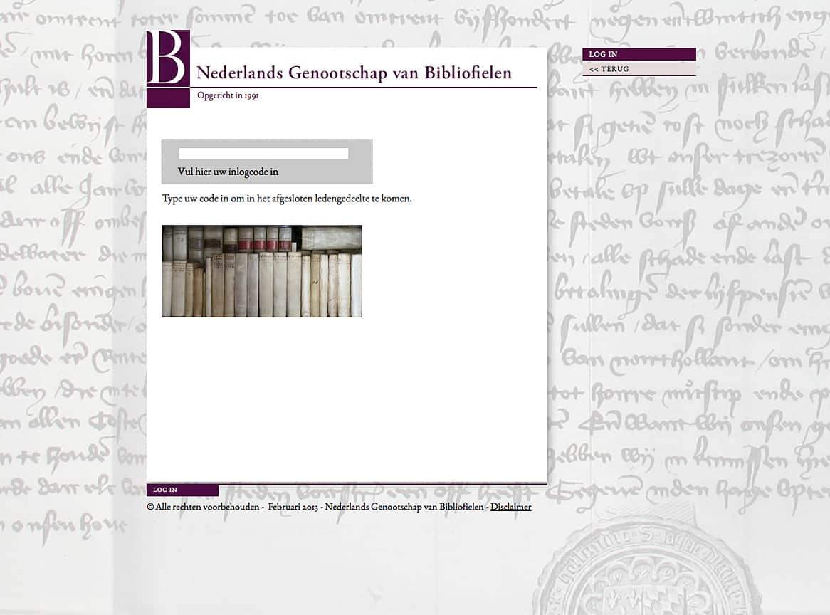 inlogpagina-bibliofielen