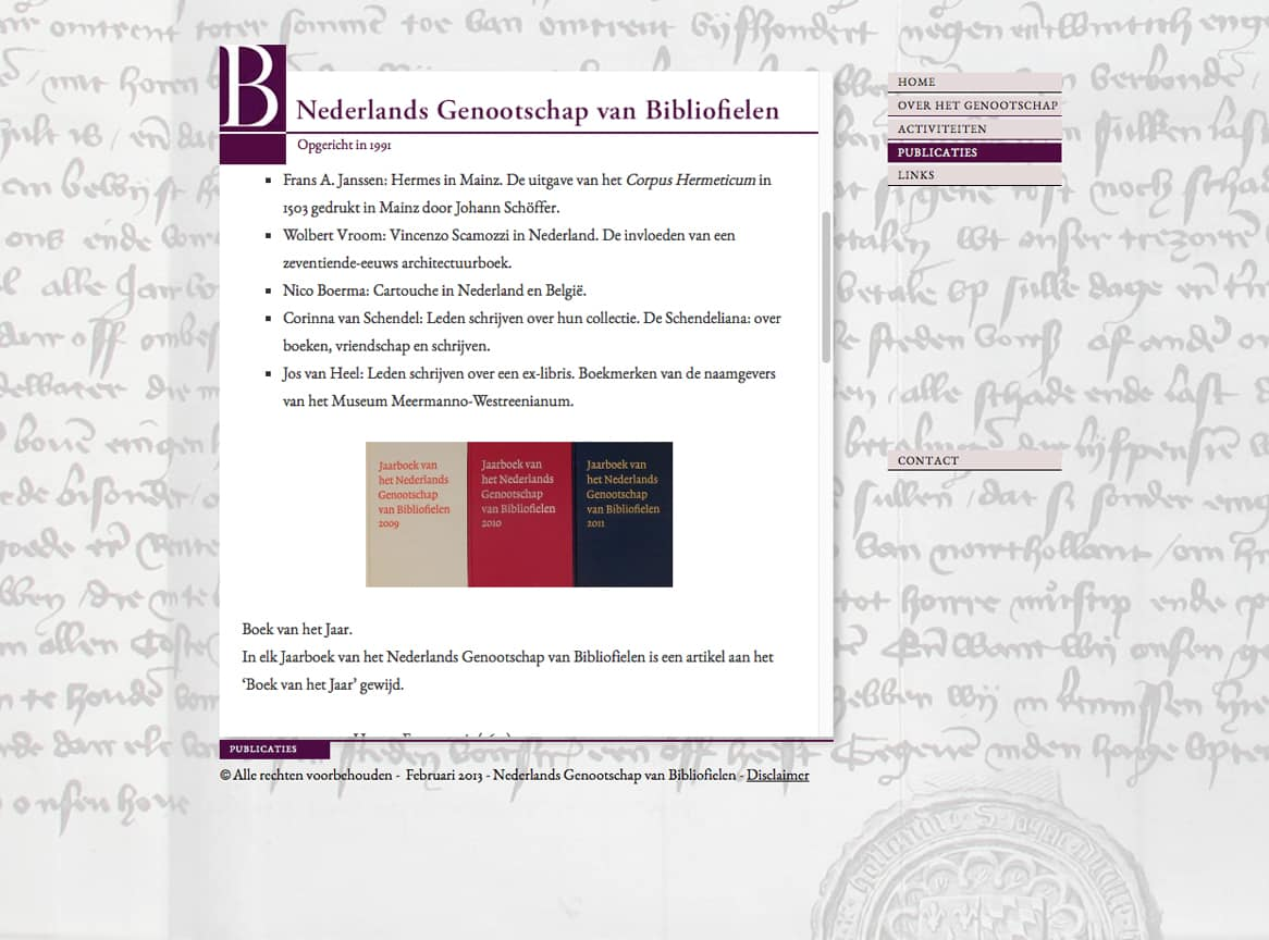 publicaties-bibliofielen