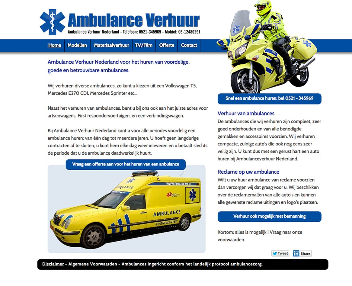 homepagina-ambulanceverhuur