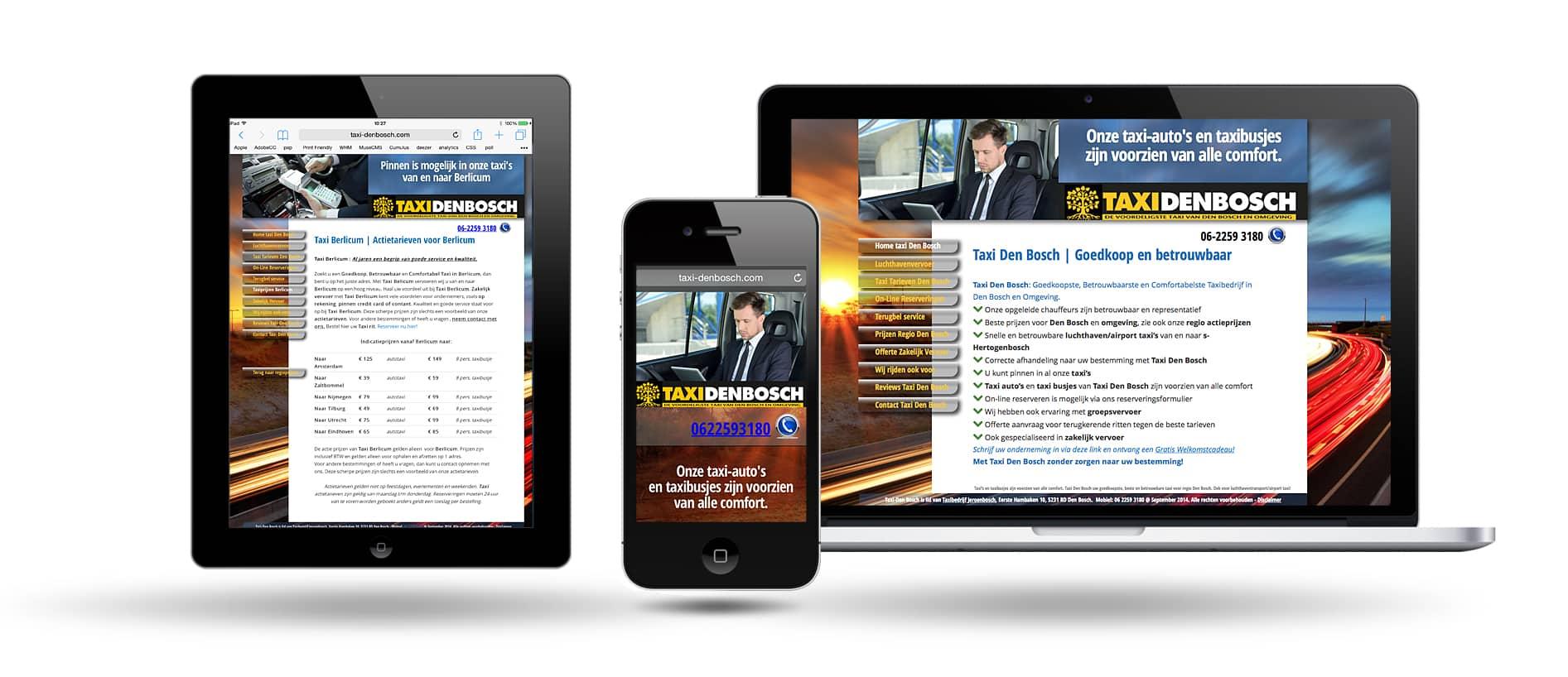 Taxi Den Bosch Responsive Webdesign - Website maken