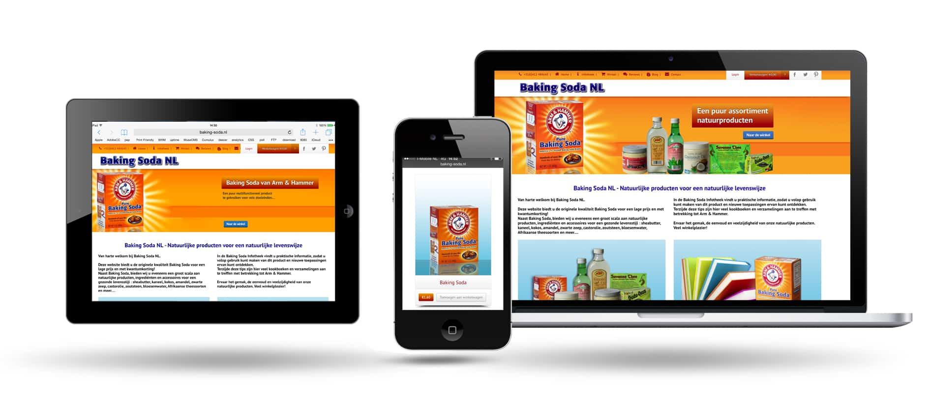 Volledig Responsive - Webwinkel geschikt voor Smartphones, Tablets en Desktop