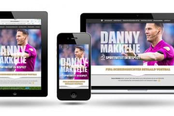 Responsieve website - Danny makkelie by Webdesign Holland